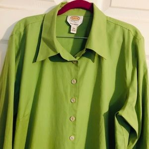 EUC - Lime Green Button Down Talbots- 18W